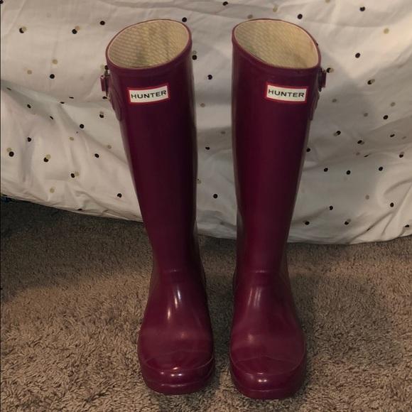 Huntress Gloss Wide Calf Rain Boots